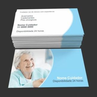 Cartão de Visita Cuidador de Idosos Modelo 02