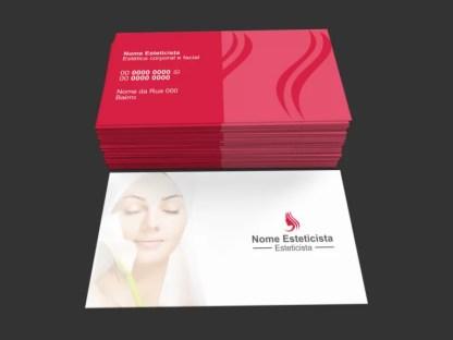 Cartão de Visita Esteticista Modelo 01