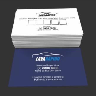 Cartão de Visita Lava Rápido Modelo 03