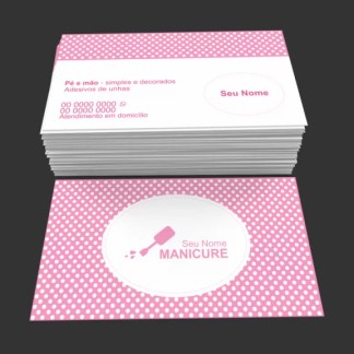 Cartão de Visita Manicure e Pedicure Modelo 01