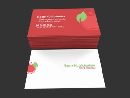 Cartão de Visita Nutricionista Modelo 01