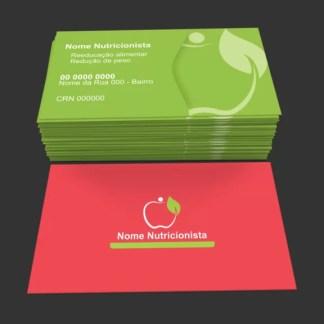 Cartão de Visita Nutricionista Modelo 02