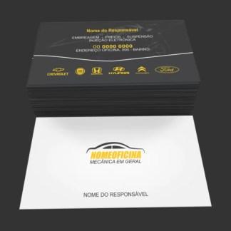 Cartão de Visita Oficina Mecânica Modelo 01