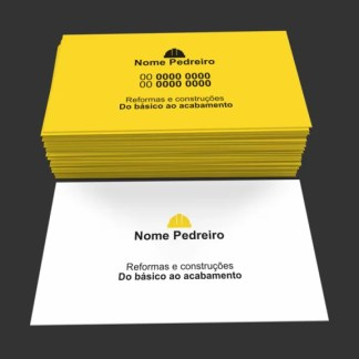 Cartão de Visita Pedreiro Modelo 03