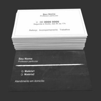 Cartão de Visita Professor Particular Modelo 02