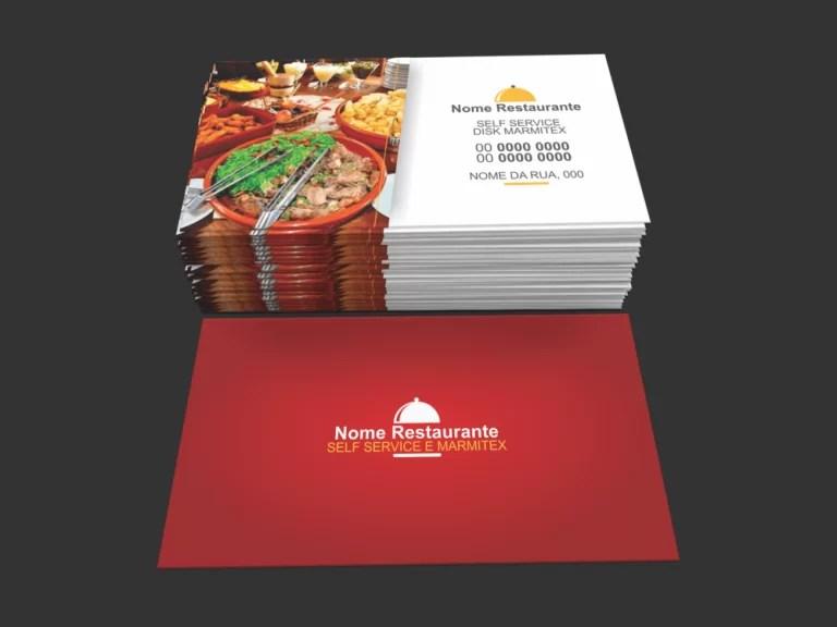 cart u00e3o de visita restaurante e marmitex premium