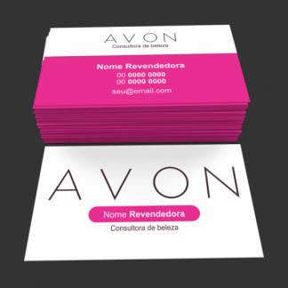 Cartão de Visita Avon Modelo 01