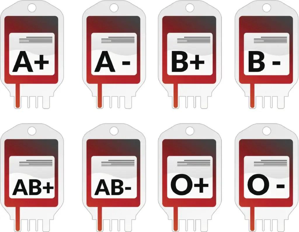 Cu ntos tipos de sangre hay for Cuantos codones existen