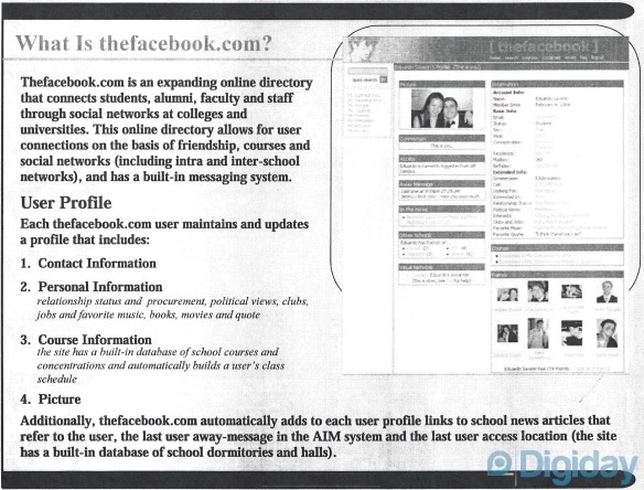 Pitch TheFacebook 2004