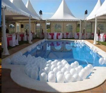 Cmo decorar la piscina de la recepcin de la boda