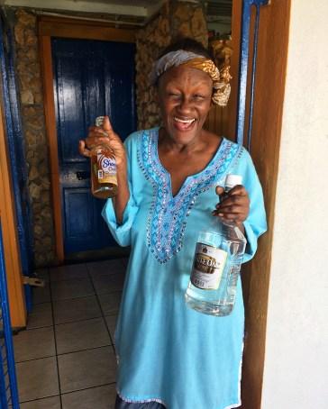 Alison at The Blue Crab Restaurant, Scarborough, Tobago