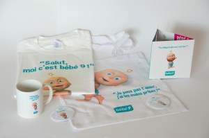 Bébé 9 - Sac, Mug, Tee-shirt, Badge
