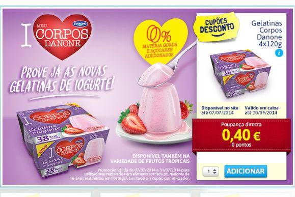 Danone - Vale de Desconto para Gelatina de Iogurte