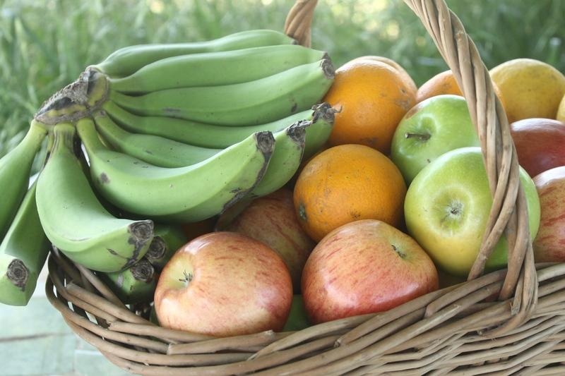 Frutas y verduras orgánicas a domicilio.