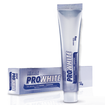 gel dental e antisséptico pro white hinode