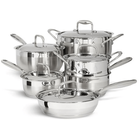 8: Paderno Classic Stainless Steel Cookware 11 pc set