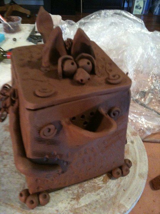 Pottery teapot by Dawn Hanson