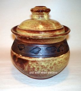 Pottery jar by Maggie Shaw