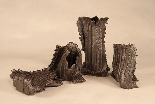 Vase and extrude pieces by Theresa Colby
