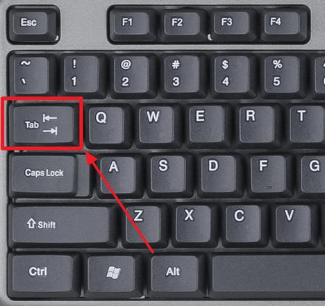 Naciśnij klawisz Tab
