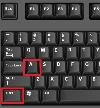 Ctrl + isang Key Combination.