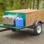 Compact Camping Trailer with front deck packed