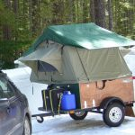 Compact Camping Trailers Explorer Box camp in snow
