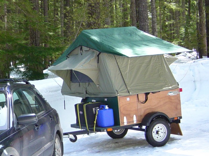 ... Compact C&ing Trailers Explorer Box c& in snow ... & Anatomy of a Tent Topped Camping Trailer | Compact Camping Concepts