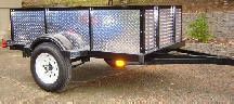 compact camping trailer Utility front with no tent