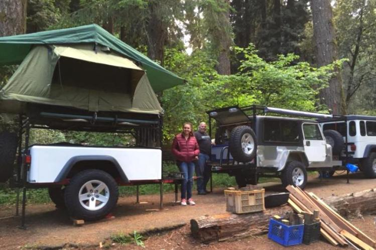 Jeep trailer built by customer - 2nd Dinoot sold