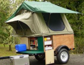Compact Camping Trailer Explorer Box Setup Lightweight Camping Trailer