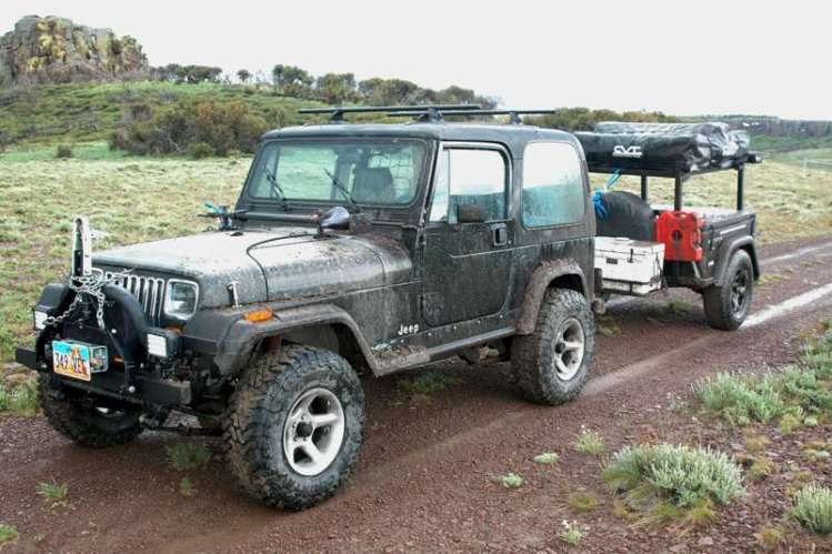 Jeep Trailer by Dinoot Customer Build in NE Nevada by Myron