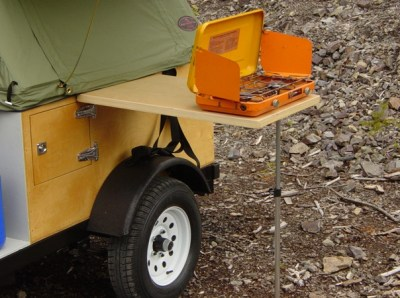 Camping Side Table DIY removeable side table