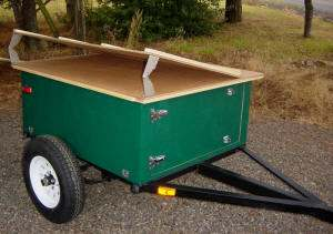 Compact Camping Trailer Custom Build with hinged platform