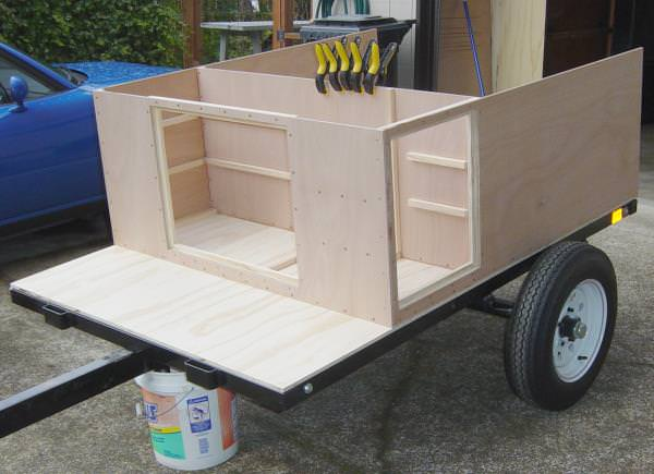 very attractive trailer build kits. Then the front wall is built and shelves are added  compact camping trailer build Explorer Box Overview Compact Camping Concepts