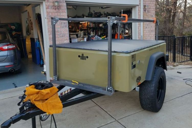 No Weld DIY Trailer Racks from compact camping trailers
