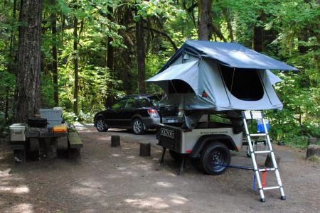 Camping Trailer No Weld Trailer Rack DIY
