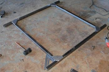 DIY camping trailer no weld rack how to