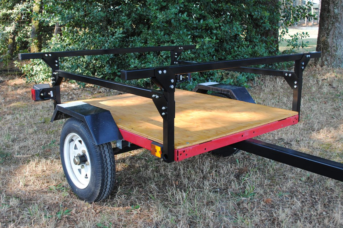 kayak trailer No Weld Trailer Rack Kayak or Toy Trailer DIY from Compact Camping DIY Trailers