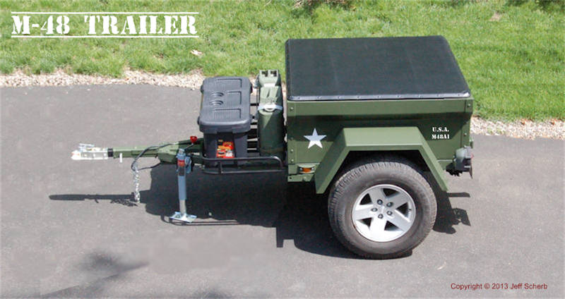 M416 Camping Trailer Kit by Dinoot Trailers