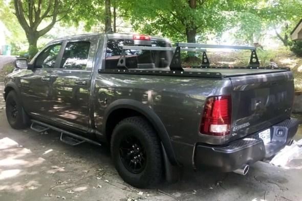 Pickup truck bed racks