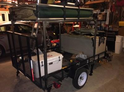 camping trailer multi purpose build at home
