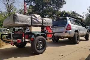 camping trailer multi-purpose with roof top tent