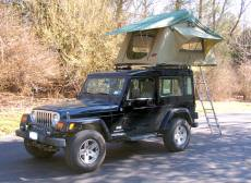 Another angle of Jeff's Jeep Safari Roof Top Tent