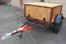 compact camping trailer build at home trailer