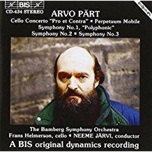 Arvo Part – Symphonies 1-3, etc.  Neeme Jarvi