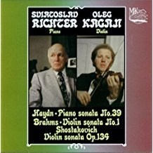Sviatoslav Richter and Oleg Kagan