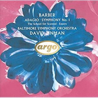 Barber – Adagio; Symphony No. 1, etc. – Baltimore Symphony Orchestra