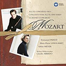 Mozart Flute Concerto No. 1; Concerto for Flute and Harp; Clarinet Concerto – Claudio Abbado