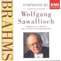 Brahms Symphony No. 1 ; Schicksalslied – Wolfganf Sawallisch